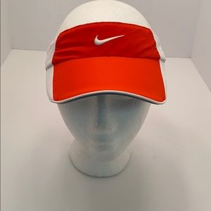 Nike Women's Orange/White Dri-Fit Visor